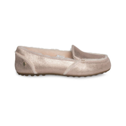 178a5e03479 UGG HAILEY METALLIC ROSE GOLD LOAFER SUEDE SHEEPSKIN WOMEN S SHOES SIZE US  9 NEW -  69.99