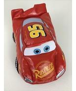 "Disney Pixar Cars Lightning McQueen Stuffed 6"" Toy Rust-eze Red 2005 Mattel - $15.79"