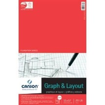 Canson C100510885 11 in. x 17 in. Graph and Layout Sheet Pad - $31.79