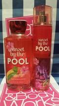 NEW Sunset by the Pool Fragrance Mist & Shower Gel Bath & Body Works Set... - $21.99