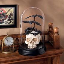 Le Cabinet de Curiosites Skull Statue Halloween Decoration Cloche Bell J... - $49.49