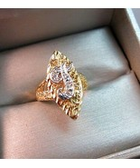 14K Diamond Yellow Gold Ring Size 6 Monogram T 3g Letter Initial Open Wo... - $197.99
