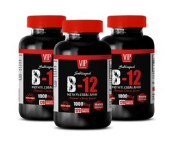 boost sustained natural energy - METHYLCOBALAMIN B-12 - digestion help 3 BOTTLE - $39.23