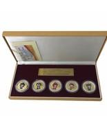 2008 Beijing Olympics The Mascots Commemorative Medallion Set Gold Silve... - $69.81