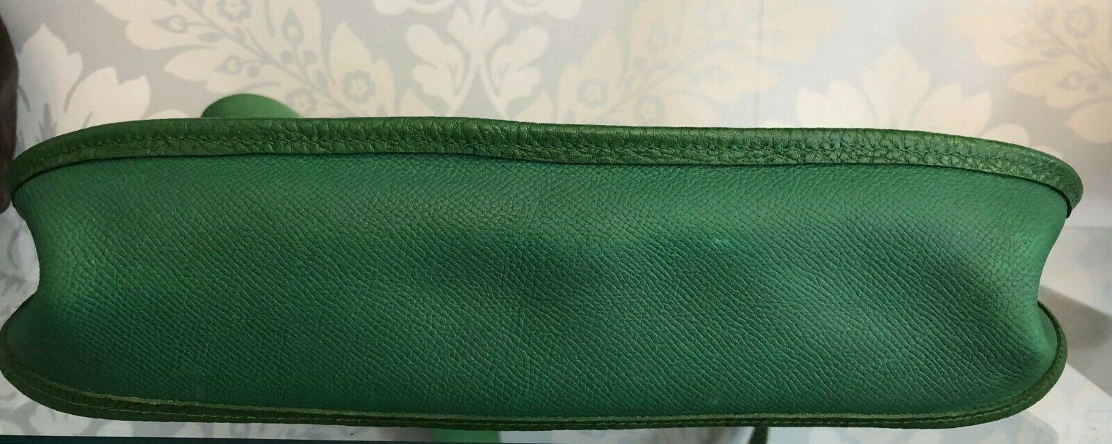 """HERMES Green Classic """"EVELYNE GM"""" Leather Tote/Shoulder Bag $$$$ image 4"""