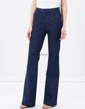Current Elliott Dark Wash Neat Flared Denim Jeans Trousers Size 26 - $88.11
