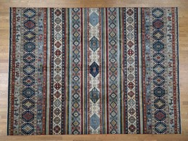 "10'2""x13'7"" Super Kazak Khorjin Design HandKnotted Pure Wool Rug G42879 - $2,596.28"