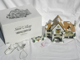 """Dept. 56 Snow Village Christmas """"Linden Hills Country Club"""" Building #54917 - $44.99"""