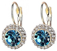 Princess Same Wedding Style Golden And Aquamarines Rhinestone Crystal D... - $23.77
