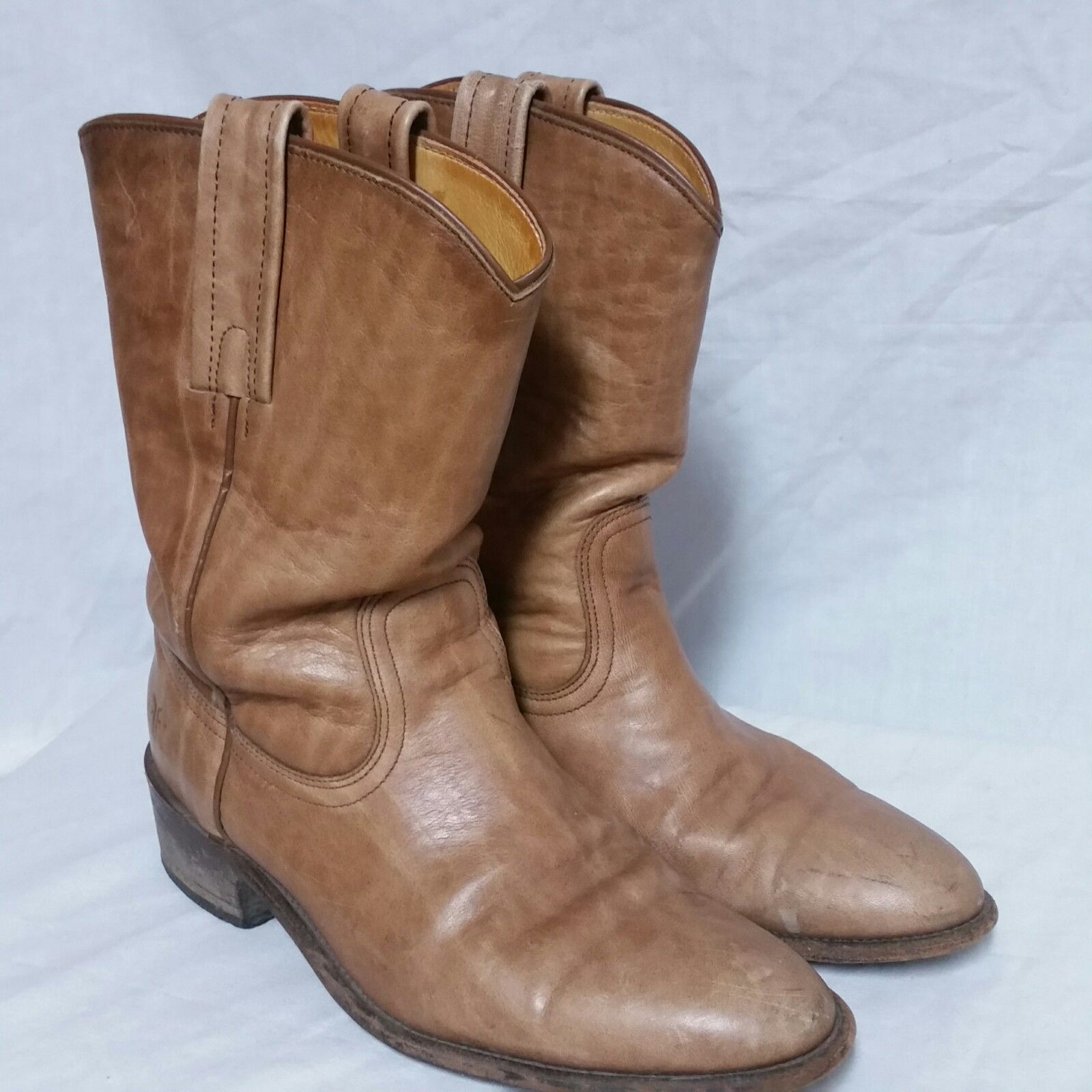 37a200637fb Frye Leather Cowboy Boots Western Roper Pull and similar items