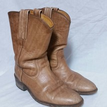 Frye Leather Cowboy Boots Western Roper Pull On Rodeo Work Desert Biker Mens 8 D - $1.357,16 MXN