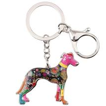 Greyhound Dog Key Chain 6 Beautifull Color - $9.99