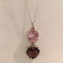 Pre Owned Coach Sterling  SilverNecklace & Steel Charm - $45.00