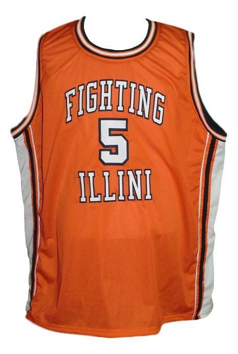 Deron williams  5 college basketball jersey orange   1
