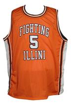 Deron Williams Fighting Illinois College Basketball Jersey Orange Any Size image 1