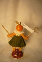 Vintage Inspired Spun Cotton Pumpkin Girl  Halloween image 2