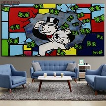 """Alec Monopoly """"Running"""" HD print on canvas large picture 47x24"""" - $29.69"""