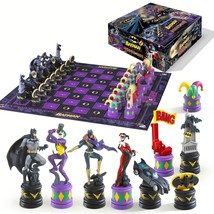 Batman Dark Knight vs The Joker Chess Set by Noble Collection [NEW] Boar... - $59.99