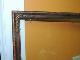 "Antique 17.5""x13.5"" Picture Frame Art Nouveau Gold Brown Bronze parrish ... - $1.105,08 MXN"