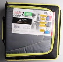 "NEW Five Star Zipper Binder + Tech Pocket, 2"", Yellow Black, 12-3/4"" x 12"" NWT"