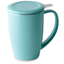 FORLIFE Curve Tall Tea Mug with Infuser and Lid 15 ounces, Turquoise - €24,21 EUR