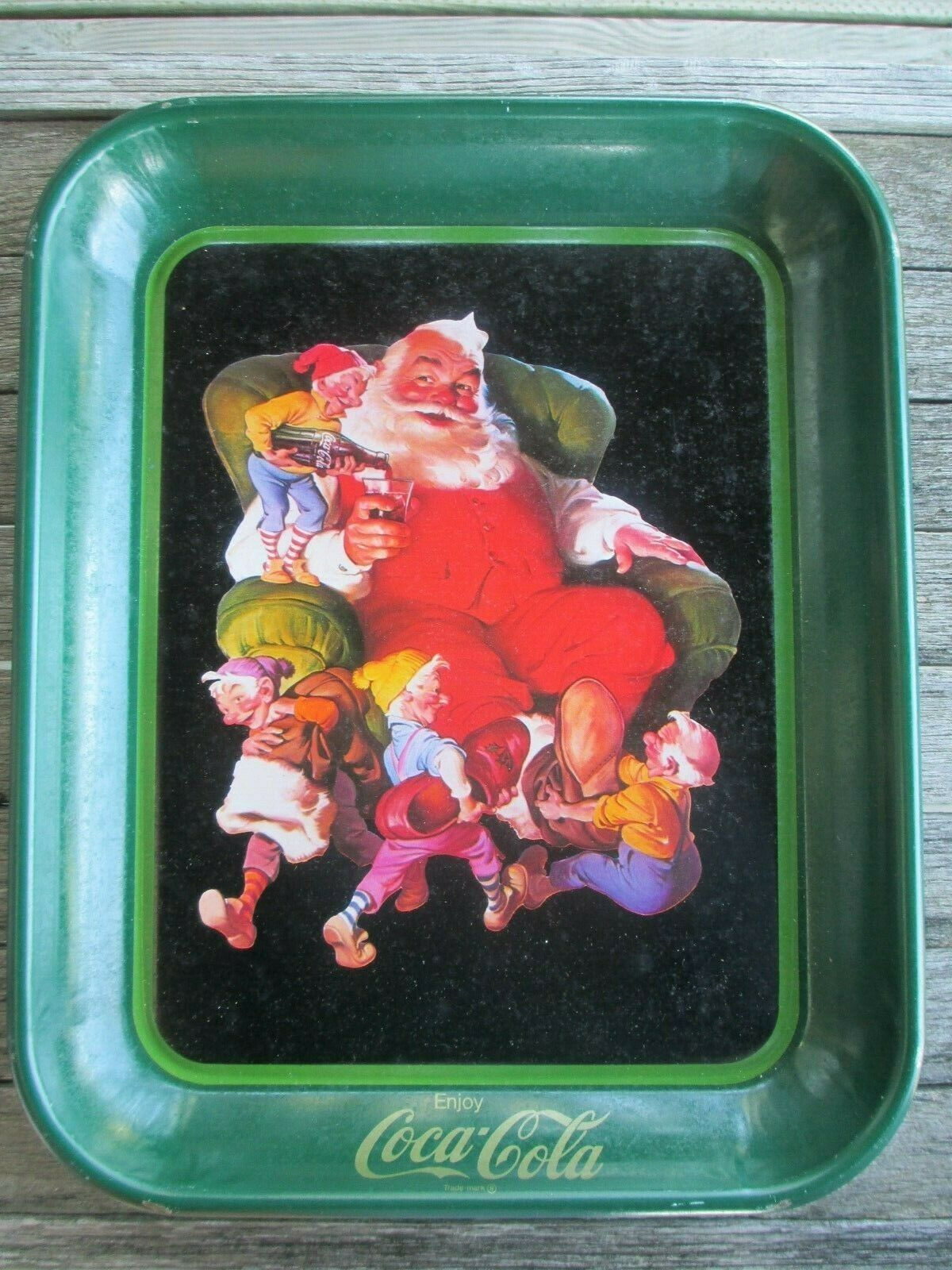 Primary image for Coca-Cola A Merry Christmas Tray Issued 1982 Santa Claus Reproduction