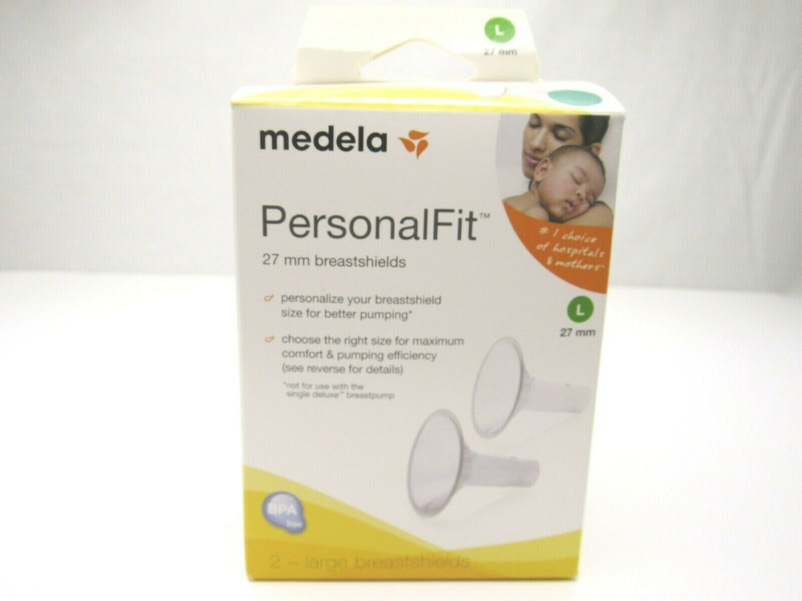 Primary image for Medela PersonalFit Breastshields 27 mm Large 2 Pack Replacement Better Pumping