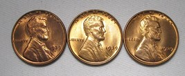 1939-P, D & S Lincoln Wheat Cents (3 Coins) Lot AE987 - $27.99