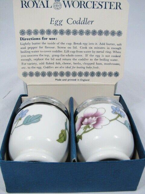 Royal Worcester Astley Flameproof Porcelain Egg Coddler Set England