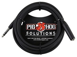 """Pig Hog PHX14-10 1/4"""" TRSF to 1/4"""" TRSM Headphone Extension Cable, 10 Feet - $10.05"""
