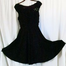 Dress Barn Collections Dress Black 12 Cap Sleeve Sexy - $19.16
