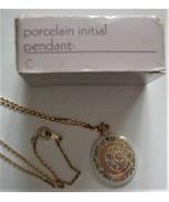 "Vintage AVON Porcelain Initial Pendant ""C"" in box NOS - $29.95"