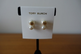 Tory Burch CRYSTAL-PEARL DOUBLE-STUD Earring. New - $49.99