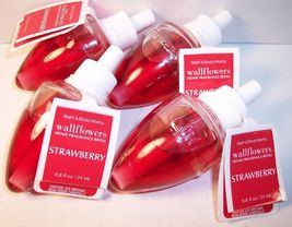 4 Bath & Body Works Wallflower Diffuser Refill Bulb  Strawberry - $39.99