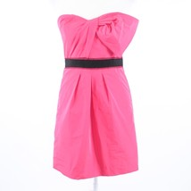 Pink BCBG MAX AZRIA black trim strapless sheath dress 6 - $22.49