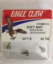 Eagle Claw 374SBA-14Treble Soft Bait W Spring Hook-Use W Dough Bait-SHIP N 24HRS - $3.84