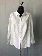Women's Talbots White Button-Down Shirt Size PL - $14.24