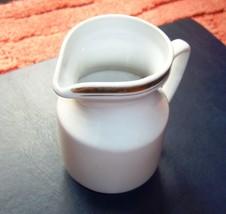 USSR Latvia Creamer Pitcher White w. gold trim RIGA Porcelain Factory RP... - $15.00