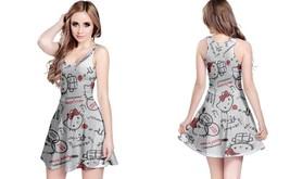 Damn hello kitty reversible dress for women thumb200