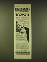1933 Matson Line Oceaninc Line Cruise Ad - The Play-ground of the Sun Ha... - $14.99