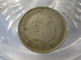 (FC-165) 1957 Spain: 5 Ptas - 59 in star - $1.00
