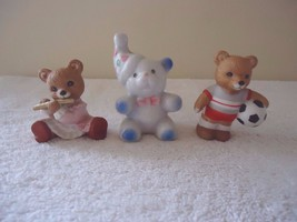 """Vintage Lot Of 3 Ceramic Bear Figurines,2,Homco,1,Other """" Great Collectible Lot - $14.01"""