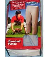 RAWLINGS NEW Youth Baseball Pants Gray XL Sports Stretch Little League Team - $10.00