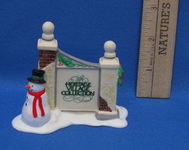 Department 56 Heritage Accessory Village Sign w/ Snowman Dept Porcelain - $6.92