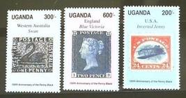 Uganda Set of 3 Stamps MINT - Penny Black - MNH Free Shipping #700176 - $1.68
