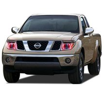 FLASHTECH for Nissan Frontier 05-08 Red Single Color LED Halo Ring Headl... - $136.22