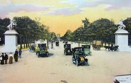 PARIS Champs Elysees Avenue France - 1900s Photo Chromotype Print Color - $10.33