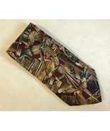 Rohde Royce Office Necktie 100% Silk Computer Drafting Tools Brown Burgu... - $19.00