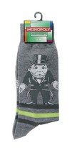Monopoly Socks sz M/L Medium/Large (6-12) Grey - $17.99