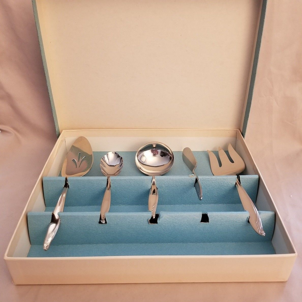 Primary image for WM A Rogers Oneida Stainless 5 Piece Serving Set